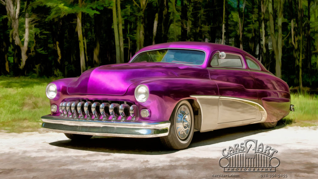 purple car art photography